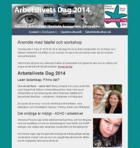 Nyhetsbrev från Nätverk Arbetslivet 20140220
