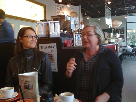 Eva Jansén, Oglio, och Viveka Eriksson, Damjournalen på bloggträff
