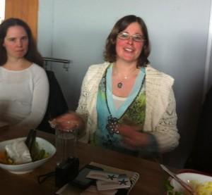 Lisa Moraeus och Maria Kullberg, blogglunch med Ett Gott Arbetsliv