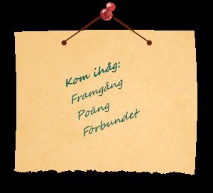Framtidsplaner: Framgång, Poäng, Förbund