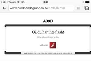 Oj, du har inte flash!