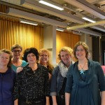 Från höger: Maria Kullberg, Camilla Ländin, Jenny Everskog, Cecilia Sahlström, Lisbeth Rydén, Weronica Persson