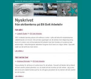 Nyheter från Ett Gott Arbetsliv 20140507